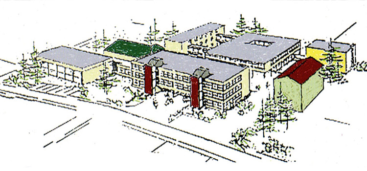 Das FJM nach fertigstellung der Neubauten