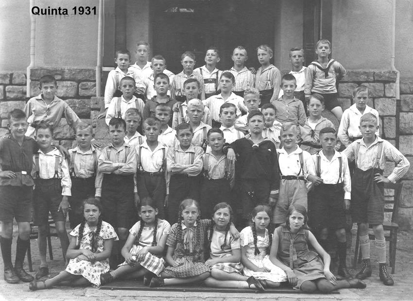 Die ersten Mädchen am FJM: Quinta 1931