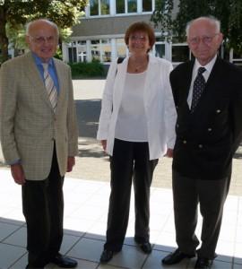 Dr. Karl Schütz mit den Kollegen Frieder Heinrich und Peter Klemenz