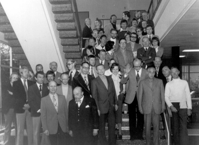Das Lehrerkollegium im Jahr 1977