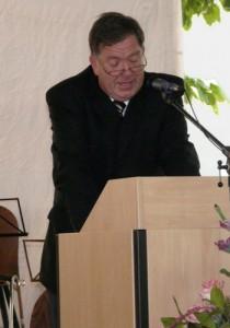 Werner Becker, in offizieller Funktion